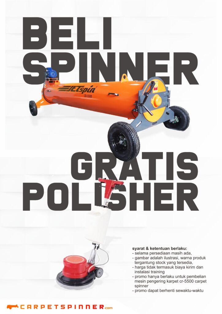 Promo Beli Spinner Gratis Polisher - carpetspinner.com