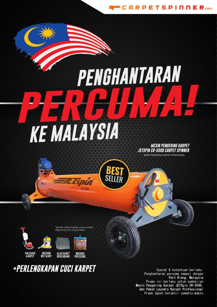 Promo Gratis Ongkir ke Malaysia, klik carpetspinner.com