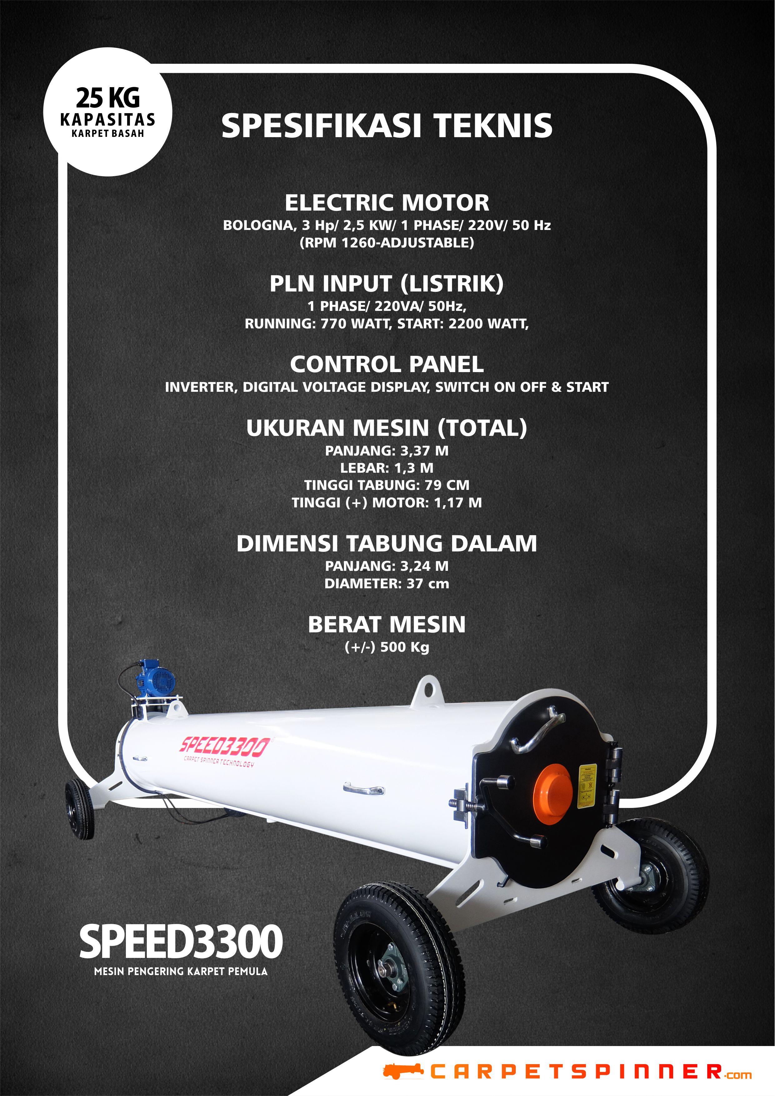 Spesifikasi Teknis SPEED3300