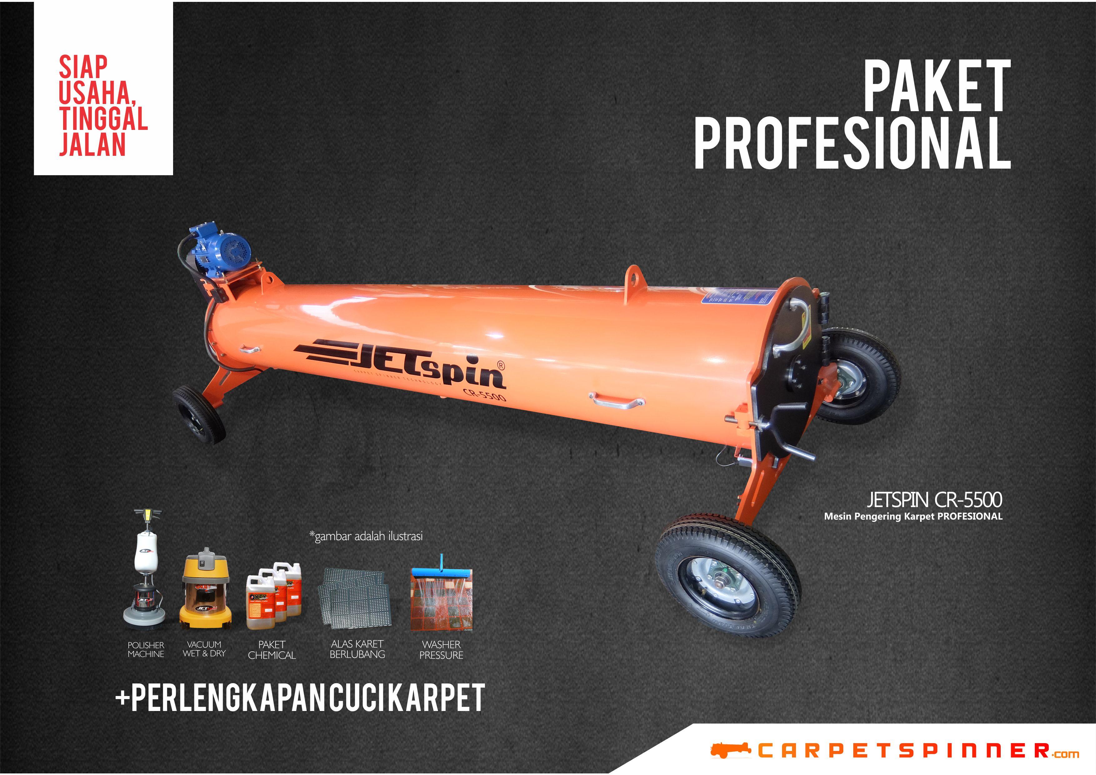 Paket Profesional Orange - www.carpetspinner.com
