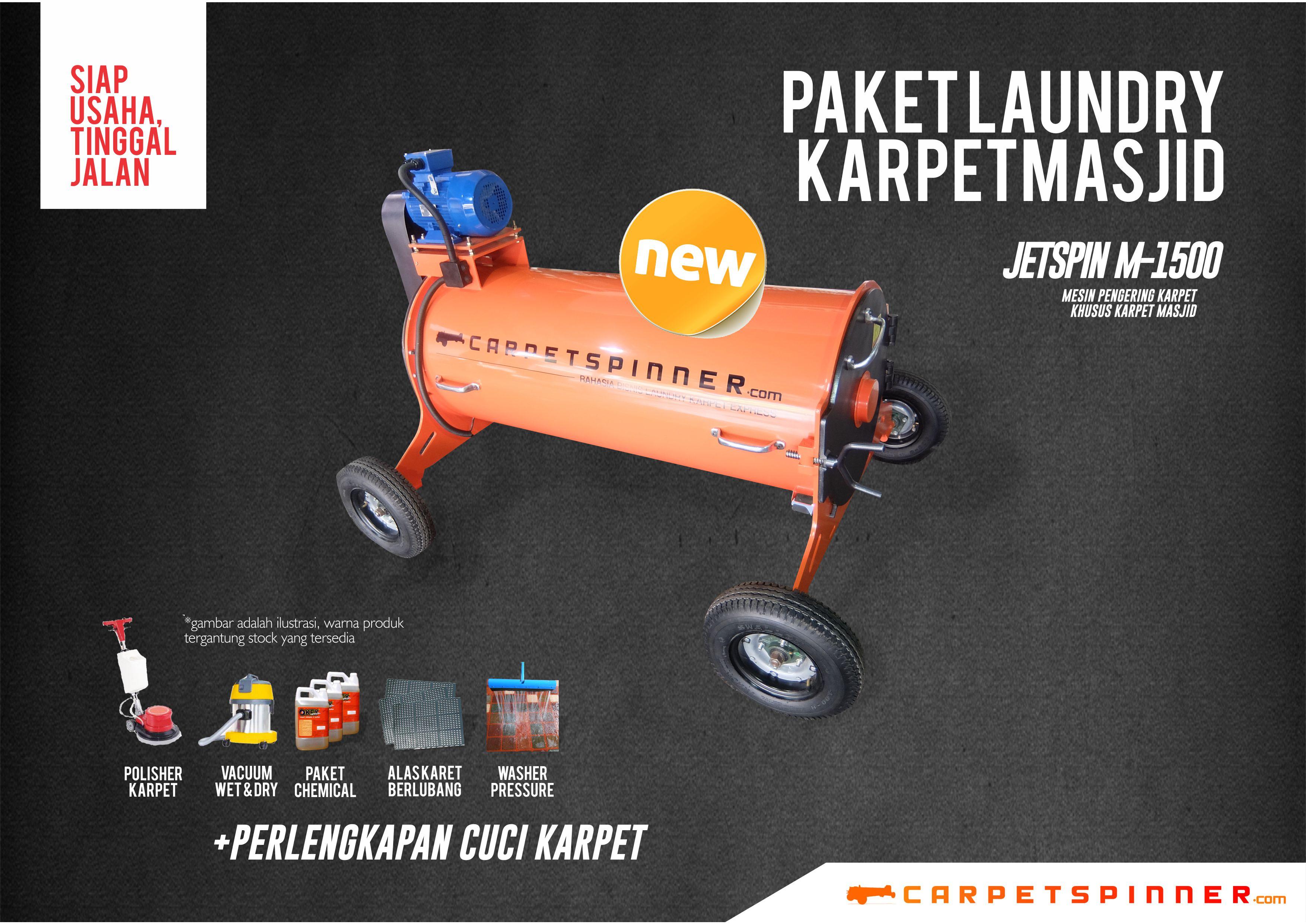 Paket Laundry Karpet Masjid JETSpin M-1500 Carpet Spinner 2019