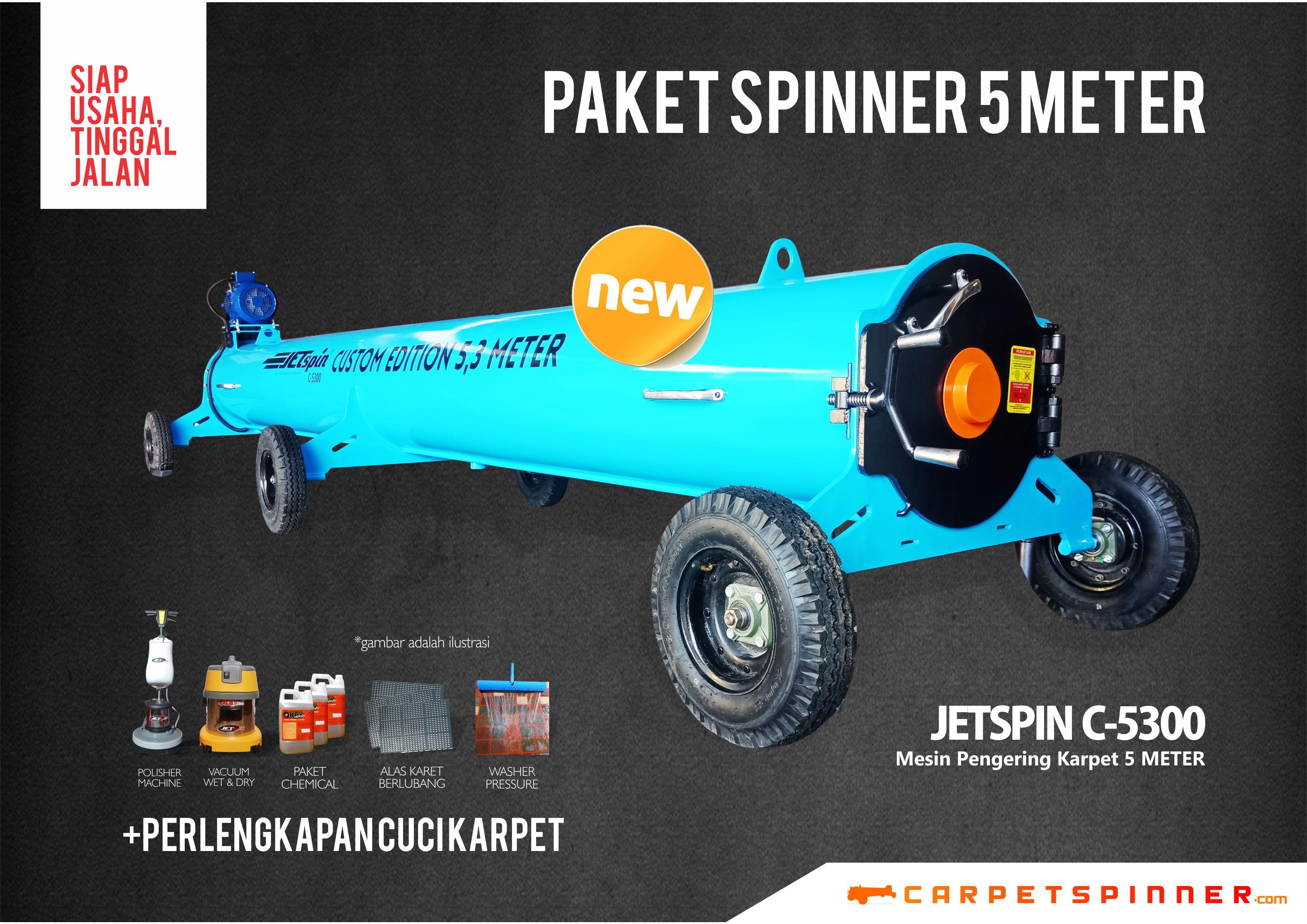 Paket Spinner 5 Meter - www.carpetspinner.com